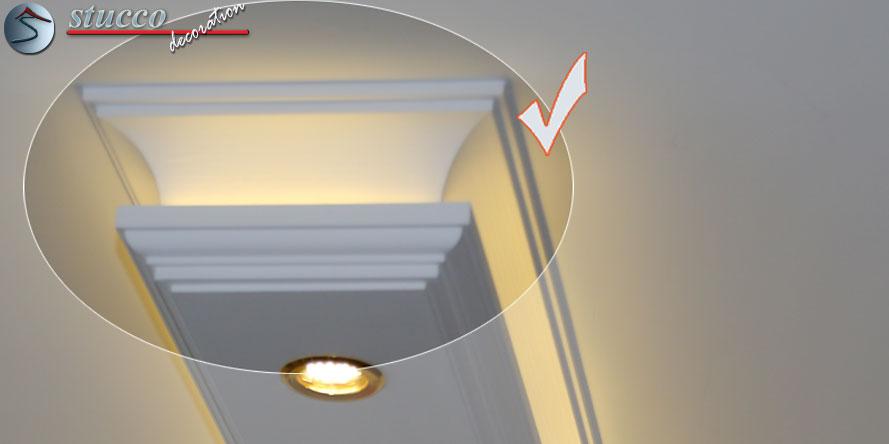 direkte und indirekte beleuchtung mit stuck stuckhersteller. Black Bedroom Furniture Sets. Home Design Ideas