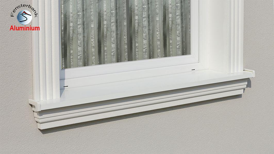 komplete alu aussenfensterbank 124