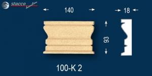 Beschichtet Marcus 100-K2 Linie Dekor zum Fenster