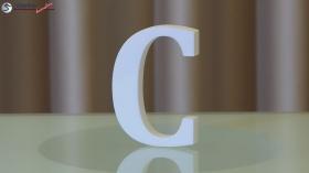 Styroporbuchstaben-c