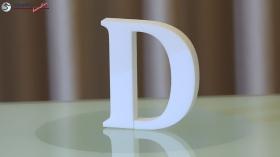 Styroporbuchstaben-d