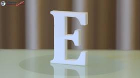 Styroporbuchstaben-e