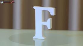 Styroporbuchstaben-f