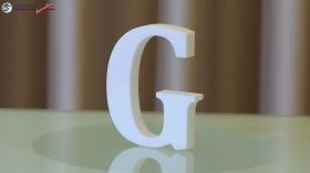 Styroporbuchstaben-g