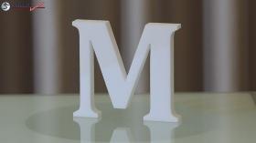 Styroporbuchstaben-m