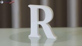 Styroporbuchstaben-r