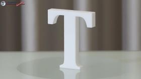Styroporbuchstaben-t