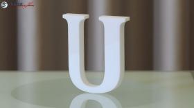 Styroporbuchstaben-u
