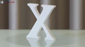 Styroporbuchstaben-x