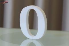 Styroporbuchstaben-o