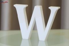 Styroporbuchstaben-w