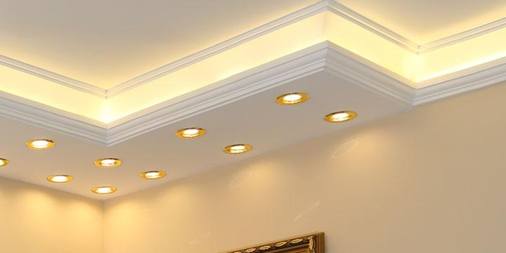 LED Beleuchtung mit Stuck