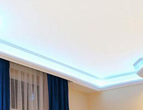 LED Strips und Stuckleisten aus Styropor