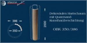 Kannelierte Dekosäulen aus Hartschaum mit Beschichtung OBK 350/386